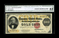 Large Size:Gold Certificates, Fr. 1215 $100 1922 Gold Certificate CGA Choice Uncirculated 63....