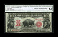Large Size:Legal Tender Notes, Fr. 121 $10 1901 Mule Legal Tender Star Note CGA About Uncirculated58....