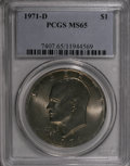 Eisenhower Dollars: , 1971-D $1 MS65 PCGS. PCGS Population (1914/700). NGC Census: (1065/540). Mintage: 68,587,424. Numismedia Wsl. Price for NGC...
