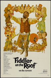 """Fiddler on the Roof (United Artists, 1972). One Sheet (27"""" X 41""""). Musical"""