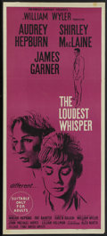 """Movie Posters:Drama, The Children's Hour (United Artists, 1962). Australian Daybill(13.25"""" X 30""""). Released in Australia as The LoudestWhispe..."""