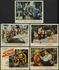 "Movie Posters:Science Fiction, The Time Machine (MGM, 1960). Title Lobby Card and Lobby Cards (4)(11"" X 14""). Science Fiction.... (Total: 5 Items)"