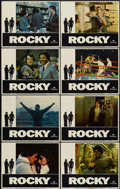 "Movie Posters:Sports, Rocky (United Artists, 1977). Lobby Card Set of 8 (11"" X 14""). Sports.... (Total: 8 Items)"