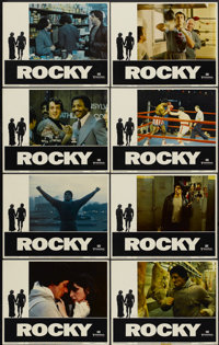 "Rocky (United Artists, 1977). Lobby Card Set of 8 (11"" X 14""). Sports.... (Total: 8 Items)"