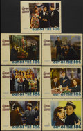 """Movie Posters:Crime, Out of the Fog (Warner Brothers, 1941). Lobby Cards (7) (11"""" X14""""). Crime.... (Total: 7 Items)"""