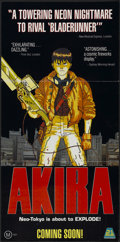 "Movie Posters:Animated, Akira (21st Century, 1989). Australian Daybill (13"" X 27"") Advance.Animated...."