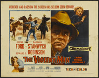 "The Violent Men (Columbia, 1954). Half Sheet (22"" X 28"") Style A. Western"