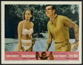 "Movie Posters:James Bond, Goldfinger/Dr. No Combo (United Artists, R-1966). Lobby Card (11"" X14""). James Bond...."