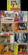"Movie Posters:Bad Girl, The Female Bunch Lot (Gilbreth, 1971). Lobby Cards (9) (11"" X 14"").Sexploitation.... (Total: 9 Items)"
