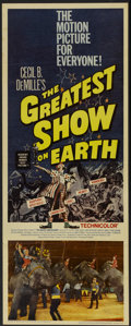"Movie Posters:Drama, The Greatest Show On Earth (Paramount, R-1960). Insert (14"" X 36""). Drama...."