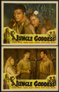 "Movie Posters:Adventure, Jungle Goddess (Screen Guild Productions, 1948). Lobby Cards (2)(11"" X 14""). Adventure.... (Total: 2 Items)"