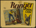"Movie Posters:Adventure, Dog Law (FBO, 1928). Lobby Card (11"" X 14""). Adventure...."