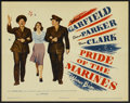 "Movie Posters:War, Pride of the Marines (Warner Brothers, 1945). Title Lobby Card (11""X 14""). War...."