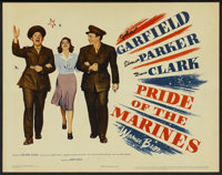 """Pride of the Marines (Warner Brothers, 1945). Title Lobby Card (11"""" X 14""""). War"""