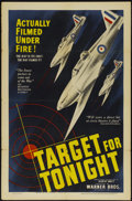 "Movie Posters:War, Target for Tonight (Warner Brothers, 1941). One Sheet (27"" X 41"").War...."