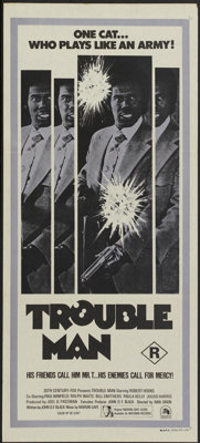"Trouble Man (20th Century Fox, 1972). Australian Daybill (13"" X 30""). Blaxploitation"