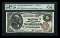 National Bank Notes:Pennsylvania, Pittsburgh, PA - $5 1882 Brown Back Fr. 474 The Marine NB Ch. #(E)2237. ...