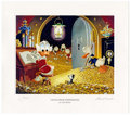 """Original Comic Art:Miscellaneous, Carl Barks - """"Visitor From Underground"""" Miniature LithographLimited Edition #14/595 (Another Rainbow, 1991). ... (Total: 2Items)"""