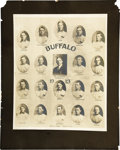 Baseball Collectibles:Photos, 1913 Buffalo Bisons Imperial Cabinet Photograph. ThrillingInternational League artifact pictures the members of the club t...