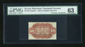 Fractional Currency:Third Issue, Fr. 1251-4SP 10c Third Issue with Gilfillan Courtesy Autograph PMG Choice Uncirculated 63....