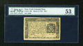 Colonial Notes:New York, New York March 5, 1776 $2/3 PMG About Uncirculated 53....