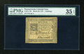 Colonial Notes:Pennsylvania, Pennsylvania March 20, 1773 4s PMG Choice Very Fine 35 EPQ....