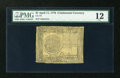 Colonial Notes:Continental Congress Issues, Continental Currency April 11, 1778 $7 PMG Fine 12....