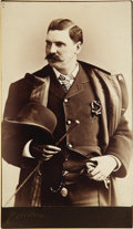 Boxing Collectibles:Memorabilia, 1881 John L. Sullivan Cabinet Card. Glorious photograph of the greatest figure in 19th century pugilism is notated in vinta...