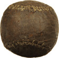 """Baseball Collectibles:Others, Circa 1880 """"Figure Eight"""" Model Baseball. Spectacular ancientbaseball artifact represents the first evolutionary step away ..."""