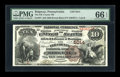 National Bank Notes:Pennsylvania, Ridgway, PA - $10 1882 Brown Back Fr. 487 The Elk County NB Ch. #5014. ...