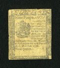 Colonial Notes:Pennsylvania, Pennsylvania April 25, 1776 9d Very Good....