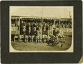 Baseball Collectibles:Photos, 1910 Philadelphia Athletics Team Cabinet Photograph in Cuba.Previously unknown image was removed from the personal scrapbo...