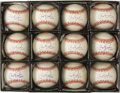 "Autographs:Baseballs, 1995 Cal Ripken, Jr. Single Signed ""2,131"" Baseballs Lot of 12.When the Iron Man overtook the Iron Horse in the most impre..."
