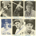 Autographs:Sports Cards, 1930s New York Yankees Signed Trade Show Cards Group Lot of 26.Each of the 26 trade show cards created to honor the 1936-3...