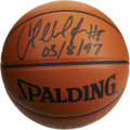 Basketball Collectibles:Balls, Antoine Walker Single Signed Basketball. Official Spalding NBA gameball here sports the bold black sharpie signature of An...