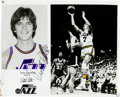 Autographs:Photos, Pete Maravich Signed Photograph. One of the few players from his era that still would have stood out in today's game, Pisto...