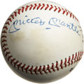 Autographs:Baseballs, Willie Mays, Mickey Mantle and Duke Snider Multi-Signed Baseball.The hallowed New York centerfield trio of Will, Mickey an...