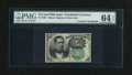 Fractional Currency:Fifth Issue, Fr. 1264 10c Fifth Issue with Wyman Courtesy Autograph PMG ChoiceUncirculated 64 EPQ....