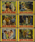 "Movie Posters:Adventure, Moon Over Burma (Paramount, 1940). Lobby Cards (6) (11"" X 14"").Adventure.... (Total: 6 Items)"
