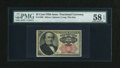 Fractional Currency:Fifth Issue, Fr. 1308 25c Fifth Issue PMG Choice About Unc 58 EPQ....