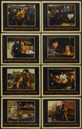 """Movie Posters:Action, Blood Alley (Warner Brothers, 1955). Lobby Card Set of 8 (11"""" X14""""). Action.... (Total: 8 Items)"""