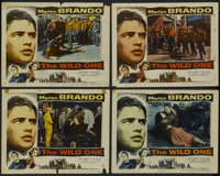 "The Wild One (Columbia, 1953). Lobby Cards (4) (11"" X 14""). Drama.... (Total: 4 Items)"