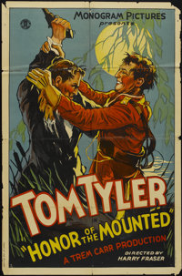 "Honor of the Mounted (Monogram, 1932). One Sheet (27"" X 41""). Adventure"