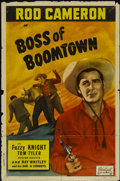 "Movie Posters:Western, Boss of Boomtown (Realart, R-1949). One Sheet (27"" X 41"").Western...."