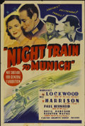 "Movie Posters:War, Night Train (20th Century Fox, 1940). Australian One Sheet (27"" X40""). Also known as Night Train to Munich. War...."
