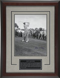 Golf Collectibles:Autographs, Byron Nelson Signed Oversized Photograph. Hailed as one of the mosttechnically proficient players to ever take the links, ...