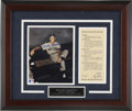 Autographs:Photos, Mickey Mantle Signed Photograph. This recognizable dugout portraitof the Mick during his epic Triple Crown year of 1956 ma...