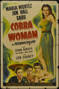 "Movie Posters:Adventure, Cobra Woman (Universal, 1944). One Sheet (27"" X 41""). Adventure...."