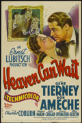 """Movie Posters:Comedy, Heaven Can Wait (20th Century Fox, 1943). One Sheet (27"""" X 41"""").Comedy...."""