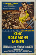 "Movie Posters:Adventure, King Solomon's Mines (MGM, R-1962). One Sheet (27"" X 41"").Adventure...."